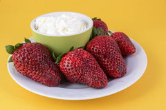 Strawberry cream Stock Image