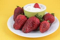 Strawberry cream Royalty Free Stock Photo