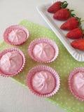 Strawberry cream yogurt dessert Royalty Free Stock Image
