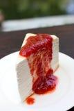 Strawberry crepe cake Stock Photos