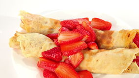 Strawberry crepe stock footage