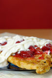 Strawberry crepes. On plate Royalty Free Stock Photography