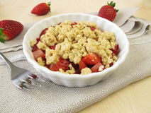 Strawberry crumble Royalty Free Stock Photos