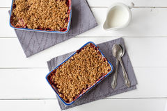 Strawberry crumble (healthy breakfast) Stock Image