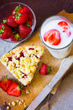Strawberry crumble Royalty Free Stock Image