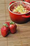 Strawberry crumble in a ramekin 2 Stock Photos