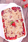 Strawberry crumble Royalty Free Stock Photo