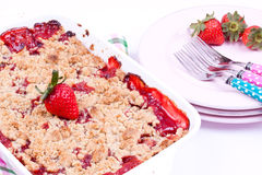 Strawberry crumble Stock Images