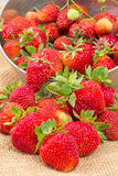 Strawberry crumbled closeup Stock Photo