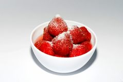 Strawberry in a cup Stock Photos
