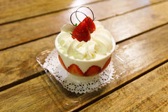 Strawberry cup cake. Stock Photography