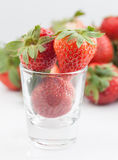 Strawberry in a cup Royalty Free Stock Photo