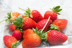 Strawberry. On a cup to be sell Royalty Free Stock Image