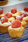 Strawberry cupcake Royalty Free Stock Photos