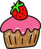 Strawberry cupcake royalty free illustration