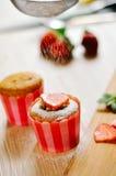 Strawberry Cupcake Stock Photos