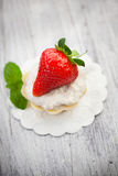 Strawberry cupcake Royalty Free Stock Photography