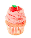 Strawberry Cupcake Isolated On White Royalty Free Stock Photo