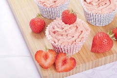 Strawberry cupcakes Stock Photography