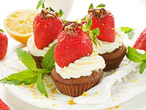 Strawberry cupcakes Stock Image