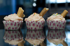 Strawberry Cupcakes Royalty Free Stock Photo