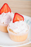 Strawberry cupcakes Stock Photo