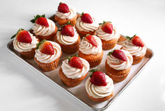 Strawberry Cupcakes Royalty Free Stock Photography