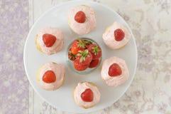 Strawberry Cupcakes Stock Photo