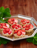 Strawberry cupcakes Royalty Free Stock Photos