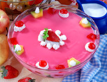 Strawberry Custard Royalty Free Stock Photo