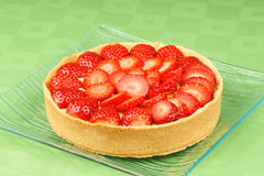 Strawberry and custard tart Royalty Free Stock Image
