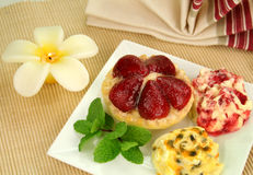 Strawberry Custard Tart Royalty Free Stock Photos