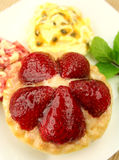 Strawberry Custard Tart Stock Images
