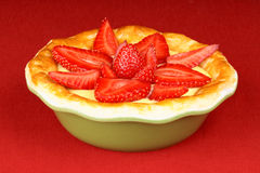Strawberry and custard tart Royalty Free Stock Photos