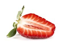 Strawberry cut Stock Photography