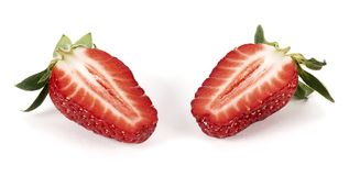 Strawberry cut Royalty Free Stock Photos