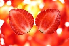 Strawberry cut. Stock Photos