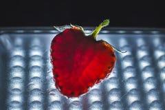Strawberry cut close-up. Stock Image