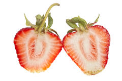 Strawberry cut in half Royalty Free Stock Photography