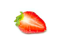 Strawberry cut in half Stock Photography