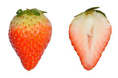 Strawberry cut in half Stock Photos
