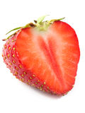 Strawberry cut isolated Royalty Free Stock Photo