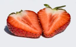 Strawberry in a cut royalty free stock photography
