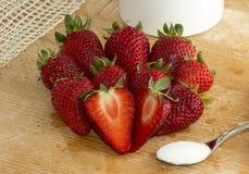 Strawberry Sugar Cut Royalty Free Stock Photo