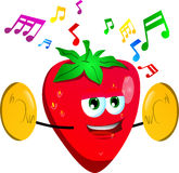 Strawberry with cymbals Stock Image