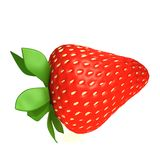 Strawberry. 3d illustration  isolated over white background Royalty Free Stock Photo