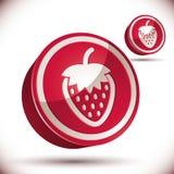 Strawberry 3d vector icon. Royalty Free Stock Photos