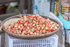 Strawberry. In Da Lat market, Lam province, Vietnam. Da Lat is a popular tourist destination in Vietnam. Photo taken on: 25 Feb 2016 stock image