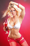 Strawberry daiquiri blond Royalty Free Stock Photos