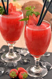 Strawberry daiquiri cocktail. Royalty Free Stock Photo
